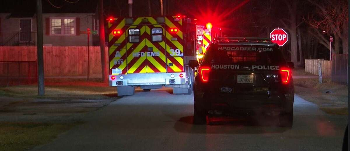 Paramedics transport a gunshot victim to the hospital where she is expected to survive, according to HPD. The woman, who said she was engaged in prostitution, was shot early Saturday by a client who refused to pay.