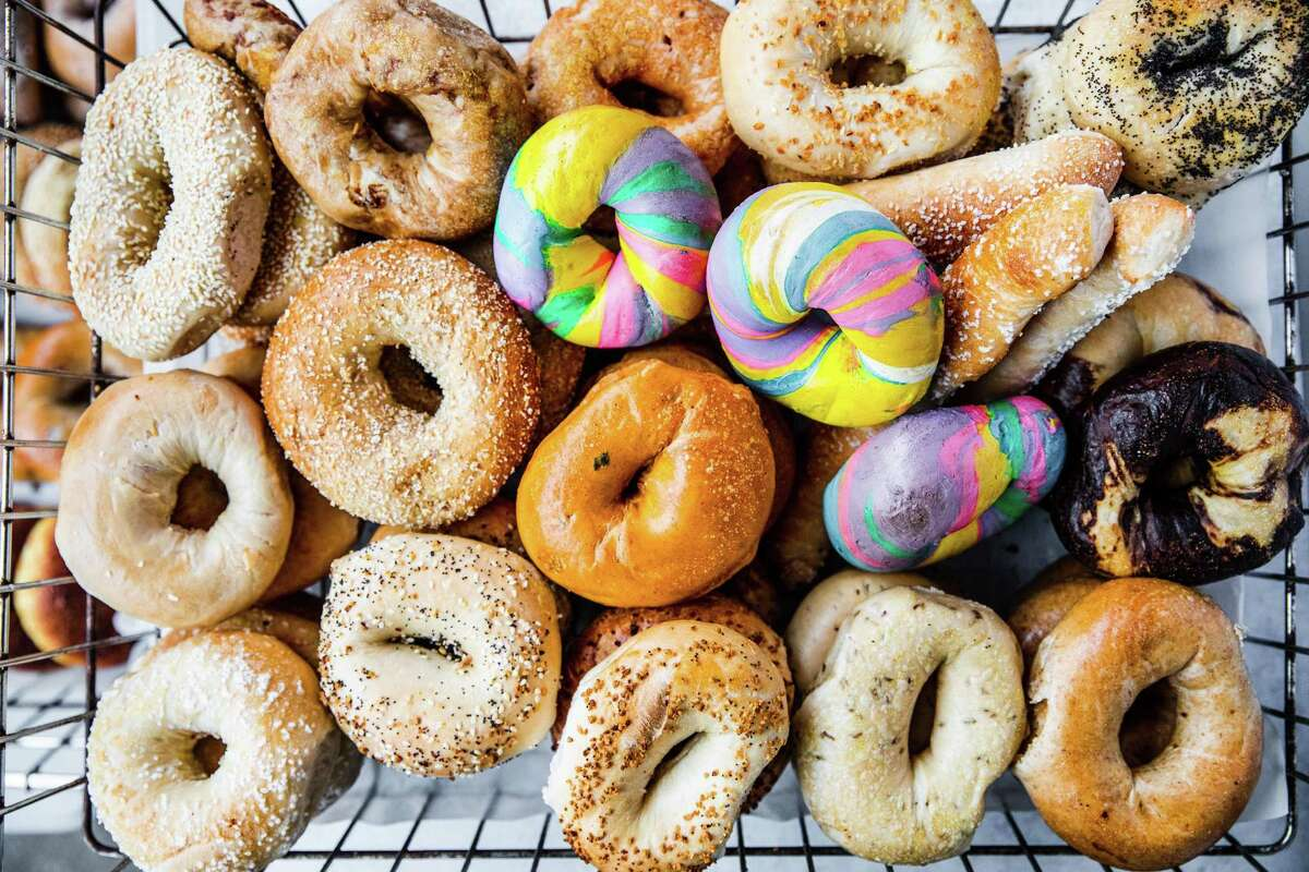 The new Bagel Shop Bakery location at the corner of Bellaire Boulevard and Chimney Rock Road makes and sells more than 20 different types of bagels