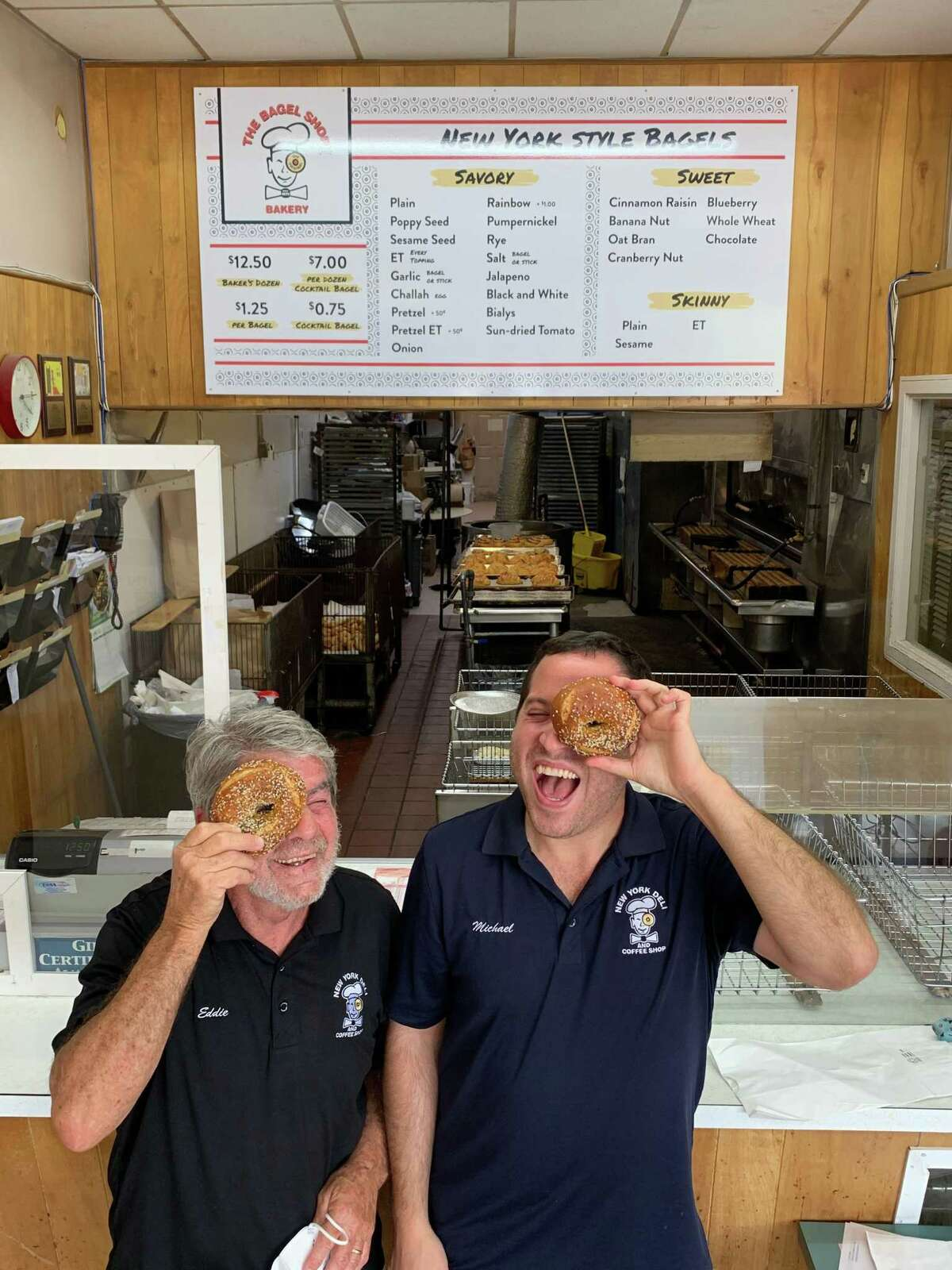 Bagel Shop Bakery owners Ed Gavrila (left) and Michael Saghian (right) are expanding to a second location 45 years after the original location on Hillcroft Street, which is still open, opened