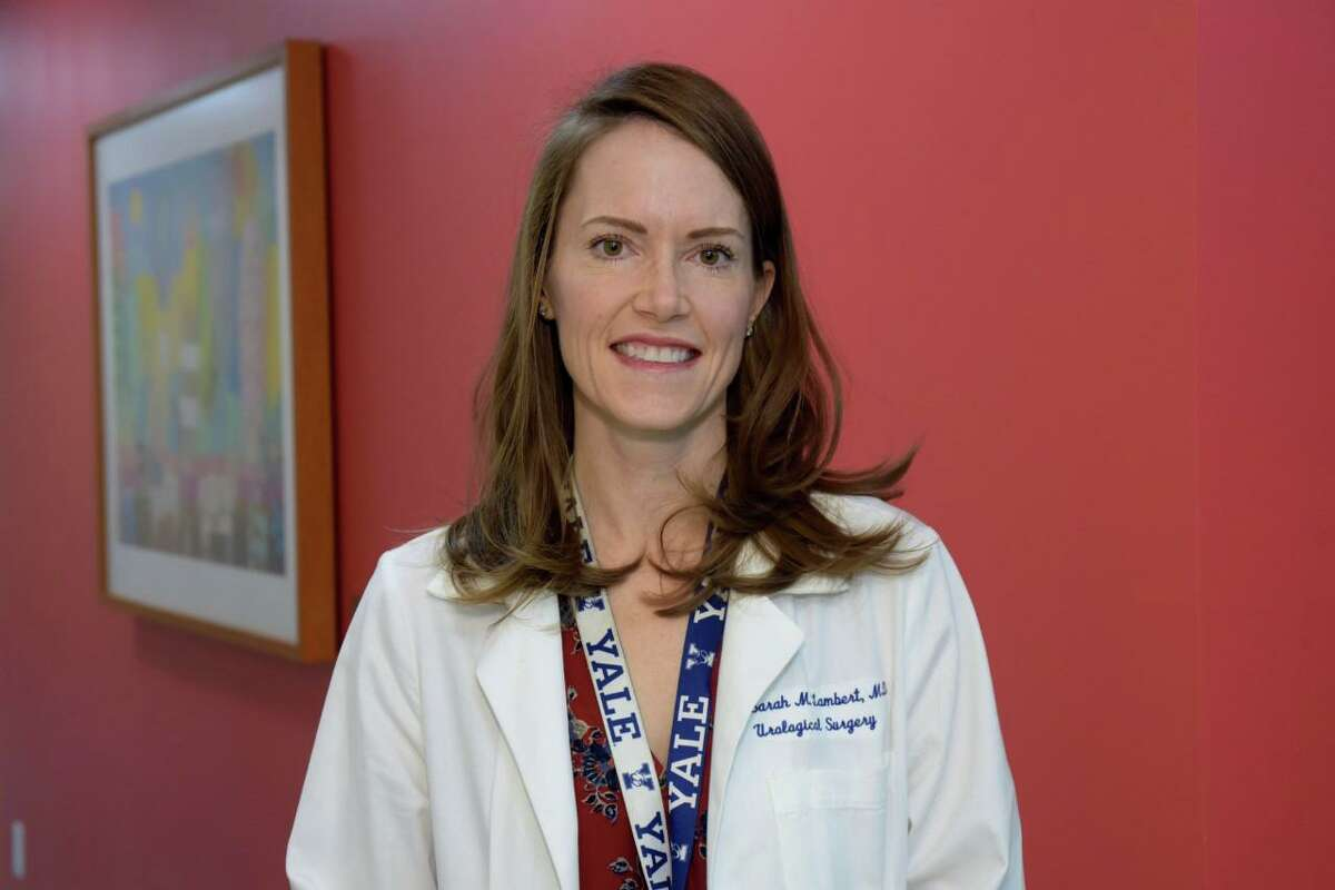 Greenwich Hospital's Dr. Sarah Lambert is the inaugural recipient of the Norm Roth Leadership Award. Dr. Lambert is a pediatric urologist with Yale New Haven Children's Hospital Pediatric Specialty Center in Greenwich.