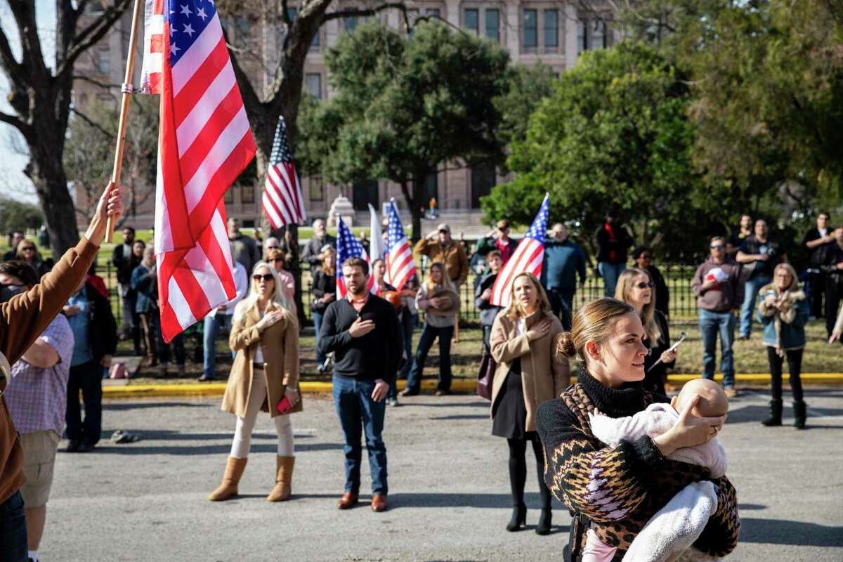 President Trump?•s supporters and Republicans gathered for a legislative priorities rally held by the Republican Party of Texas at the Texas State Capitol on Saturday, January 9, 2021 in Austin, Tx., U.S.