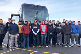 The community turned out in Kinde Saturday morning to wish the North Huron football team good luck as they headed to Portland for their state semifinal game against St. Patrick. Sadly, the Warriors' season came to an end with a 34-12 loss to the Shamrocks.