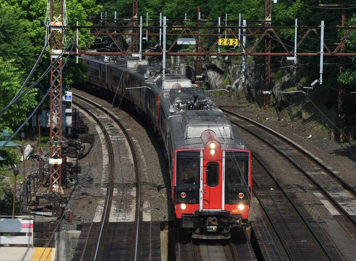 A Metro-North train.