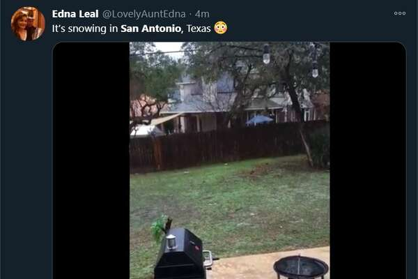 Twitter reacted to snow in Bexar County.