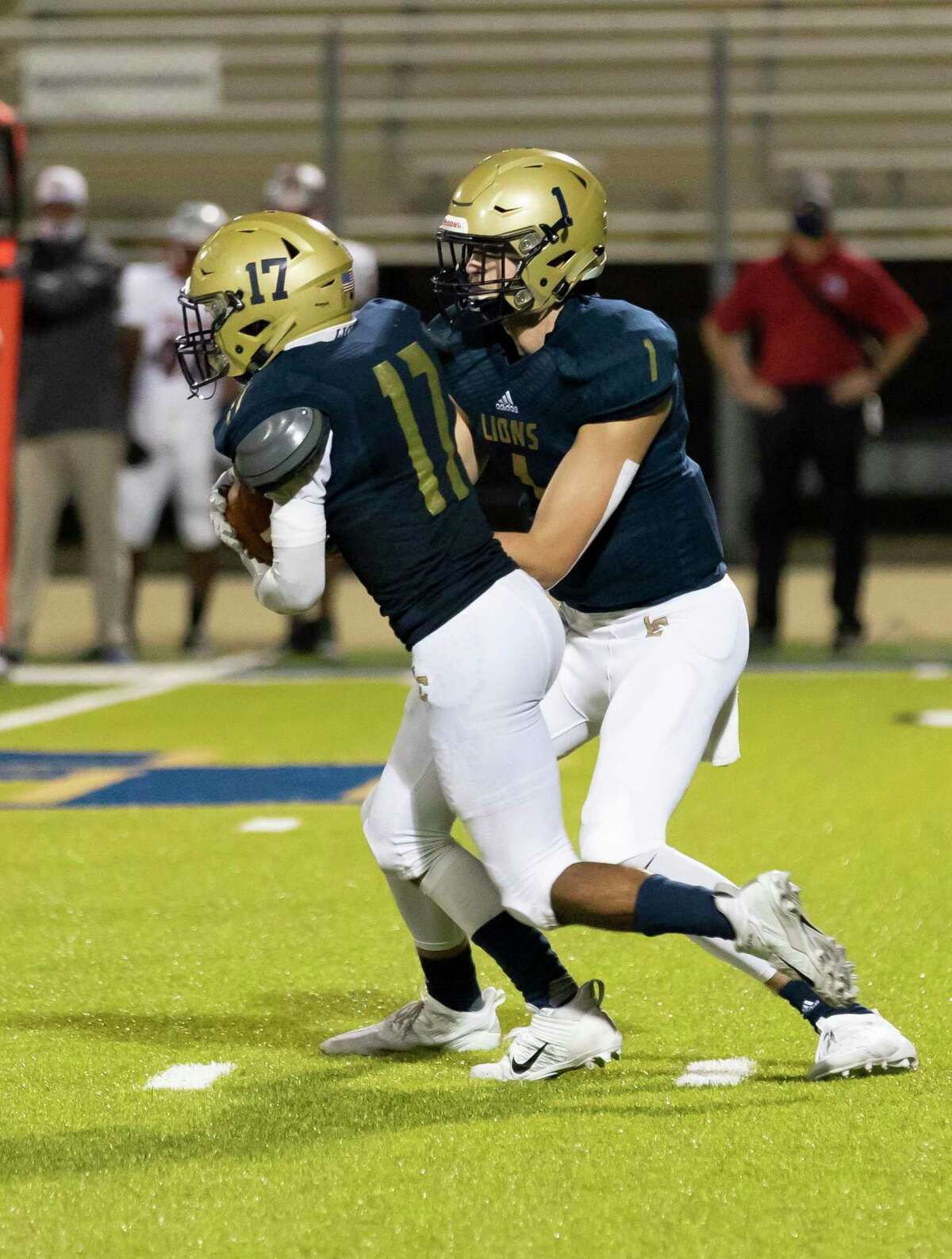 Lake Creek tailback Justin Freeney (17) was named to the District 10-5A (Div. II) First Team.