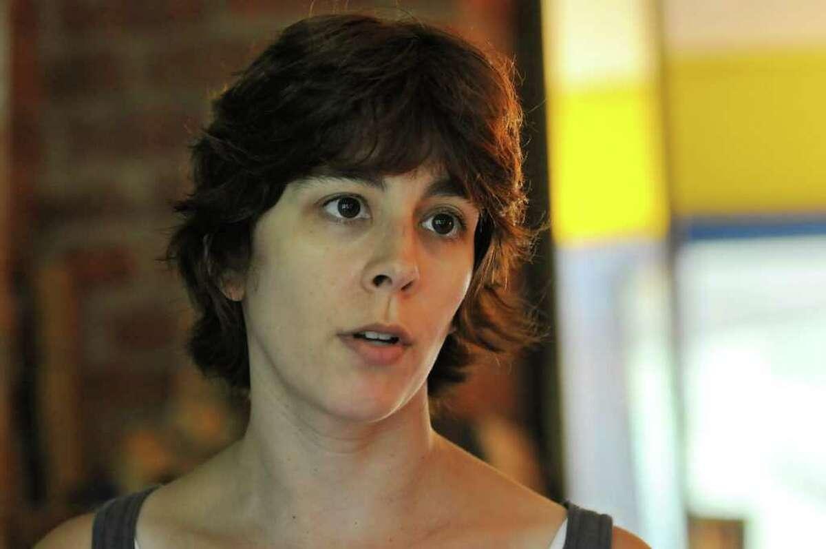 Becca Friedman talks about her experiences as a student. (Lori Van Buren / Times Union)