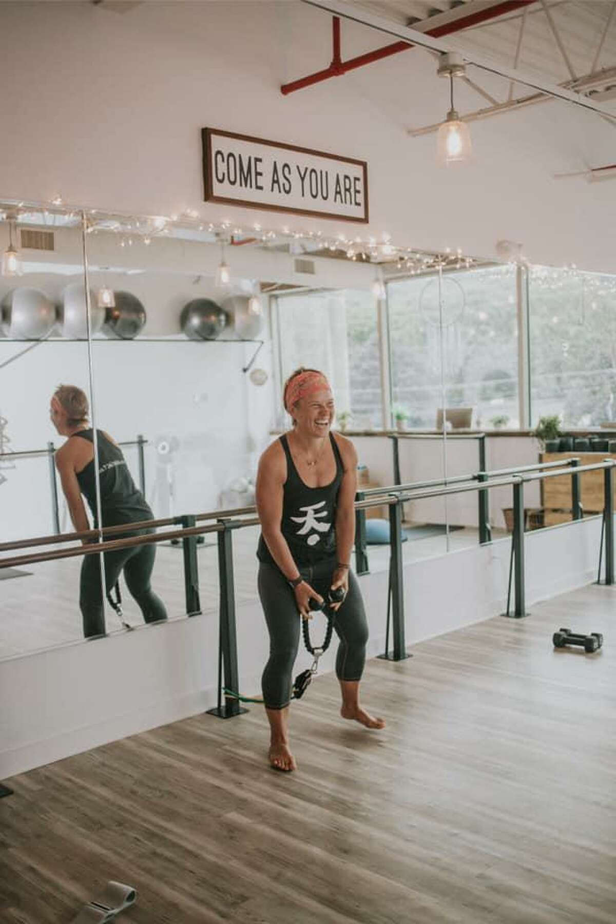 Owner Emily Medonis at Akasa fitness and wellness studio in Thomaston