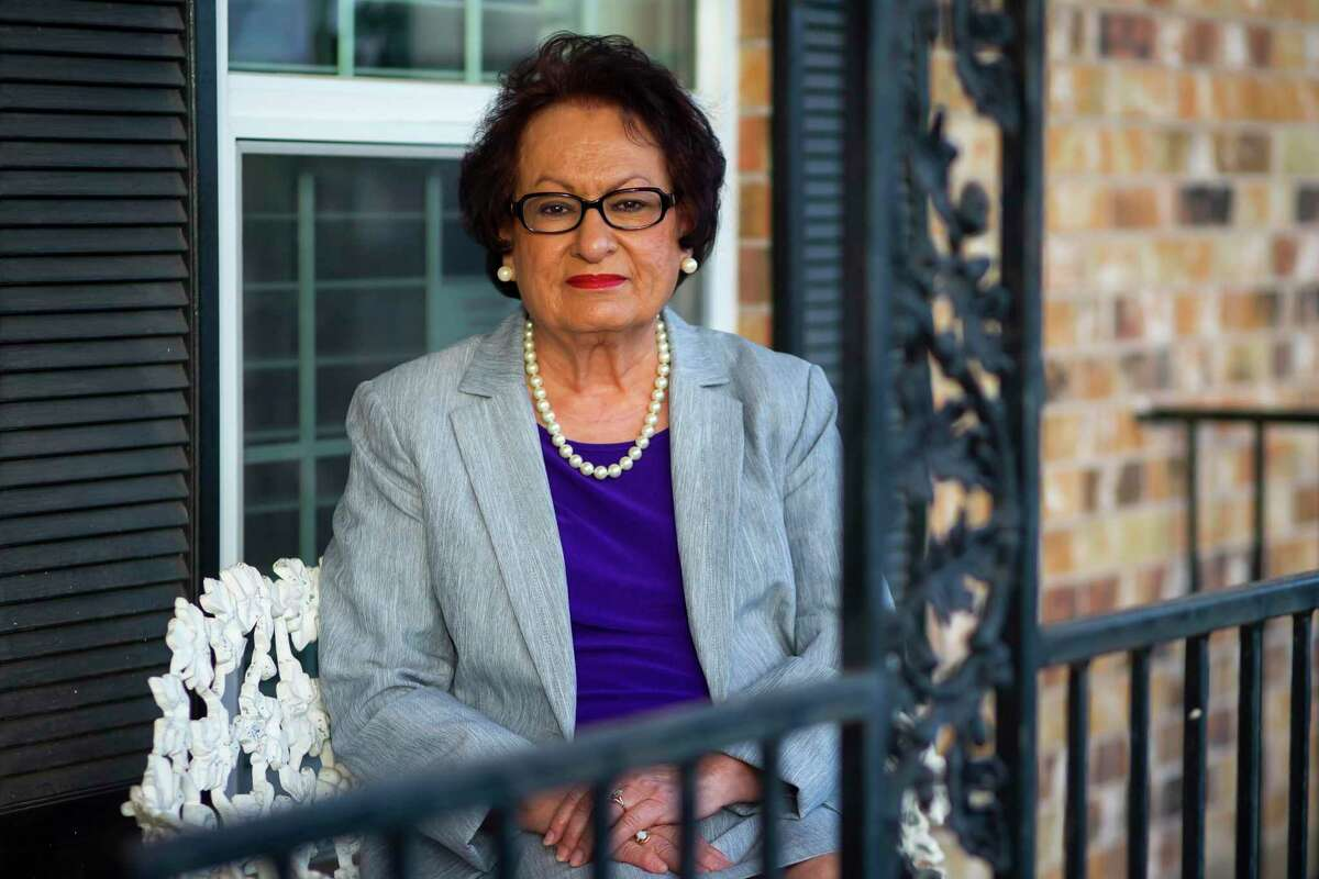 Community activist and Aldine ISD Board Trustee Connie Esparza in her Aldine home on Sunday, Dec. 27, 2020. Esparza is working with Harris County Commissioner Adrian Garcia curb gun violence by supporting a program called Shot spotter that uses gunfire detection technology.