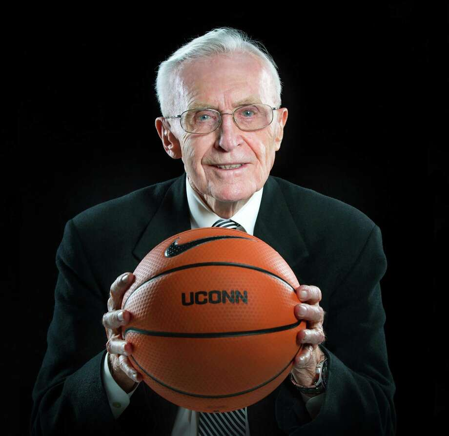 Dee Rowe, the former UConn men's basketball coach who has been an ambassador for the school's athletics program for more than 50 years died Sunday. He was 91. Photo: UConn Athletics / Contributed