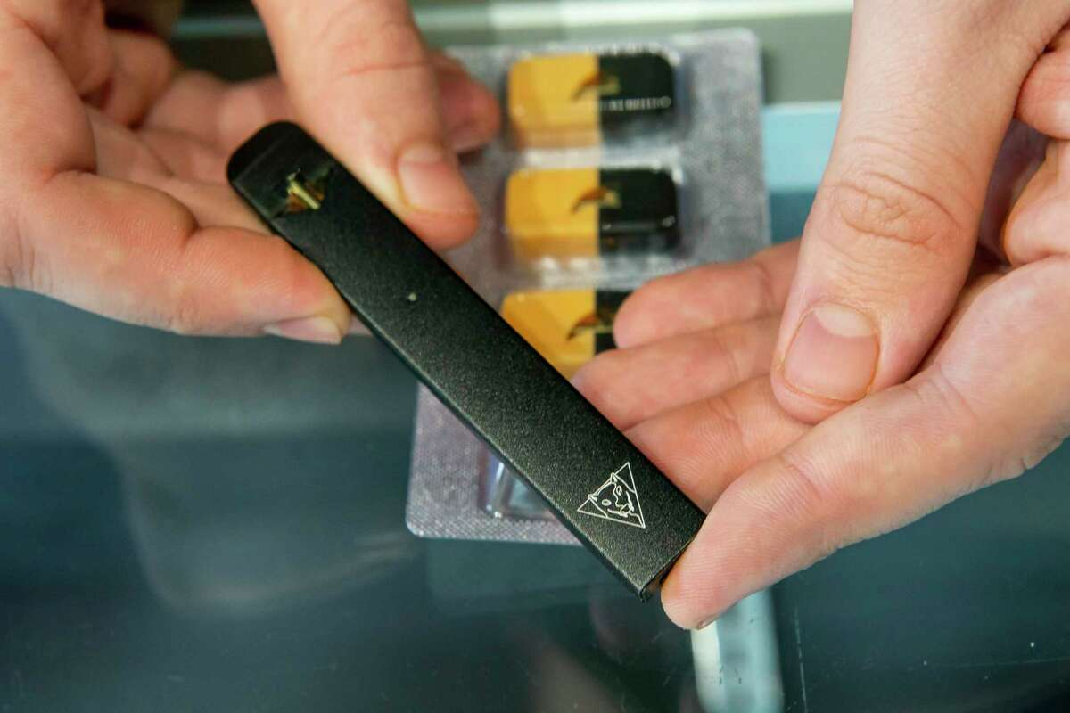 An e-cigarette device.