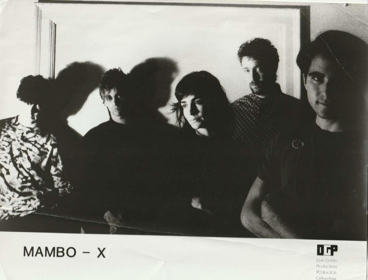 Mambo-x Promo laterL-R: David Pollack, Dennis Blaine, Erin O'Hara, Seth Kaufman, Mitch Rosen