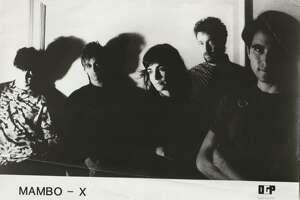Mambo-x Promo later L-R: David Pollack, Dennis Blaine, Erin O'Hara, Seth Kaufman, Mitch Rosen