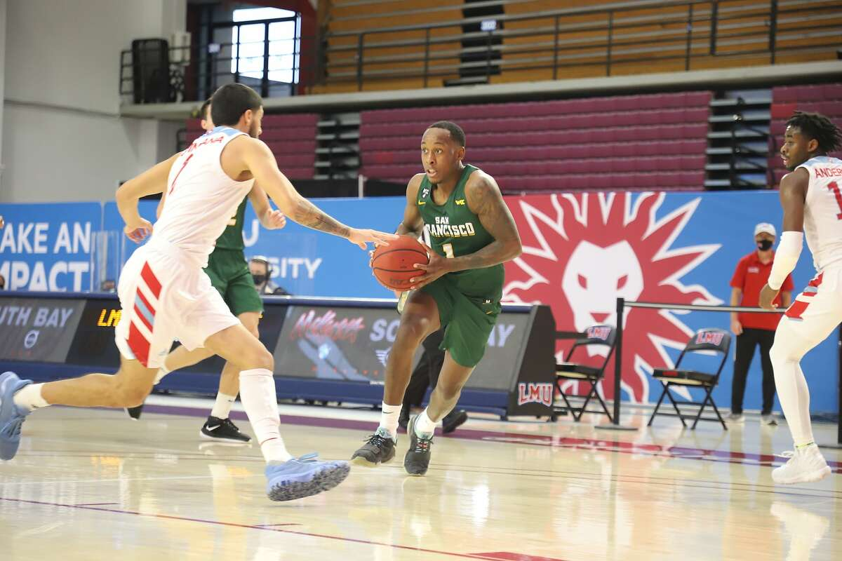 USF's Jamaree Bouyea drives against LMU