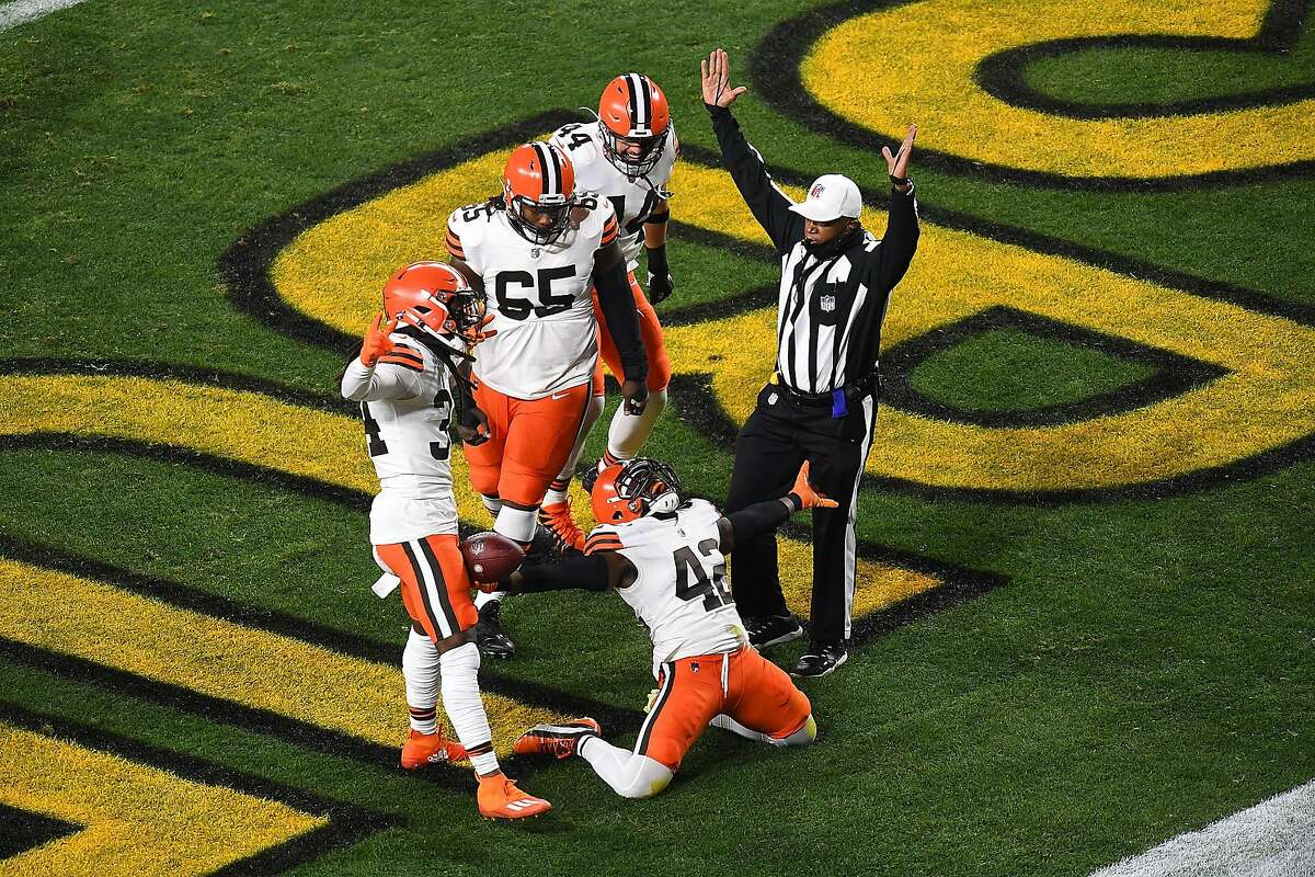 Cleveland's Karl Joseph enjoys the signal every player wants from a referee. These Browns are not the same ol' Browns.