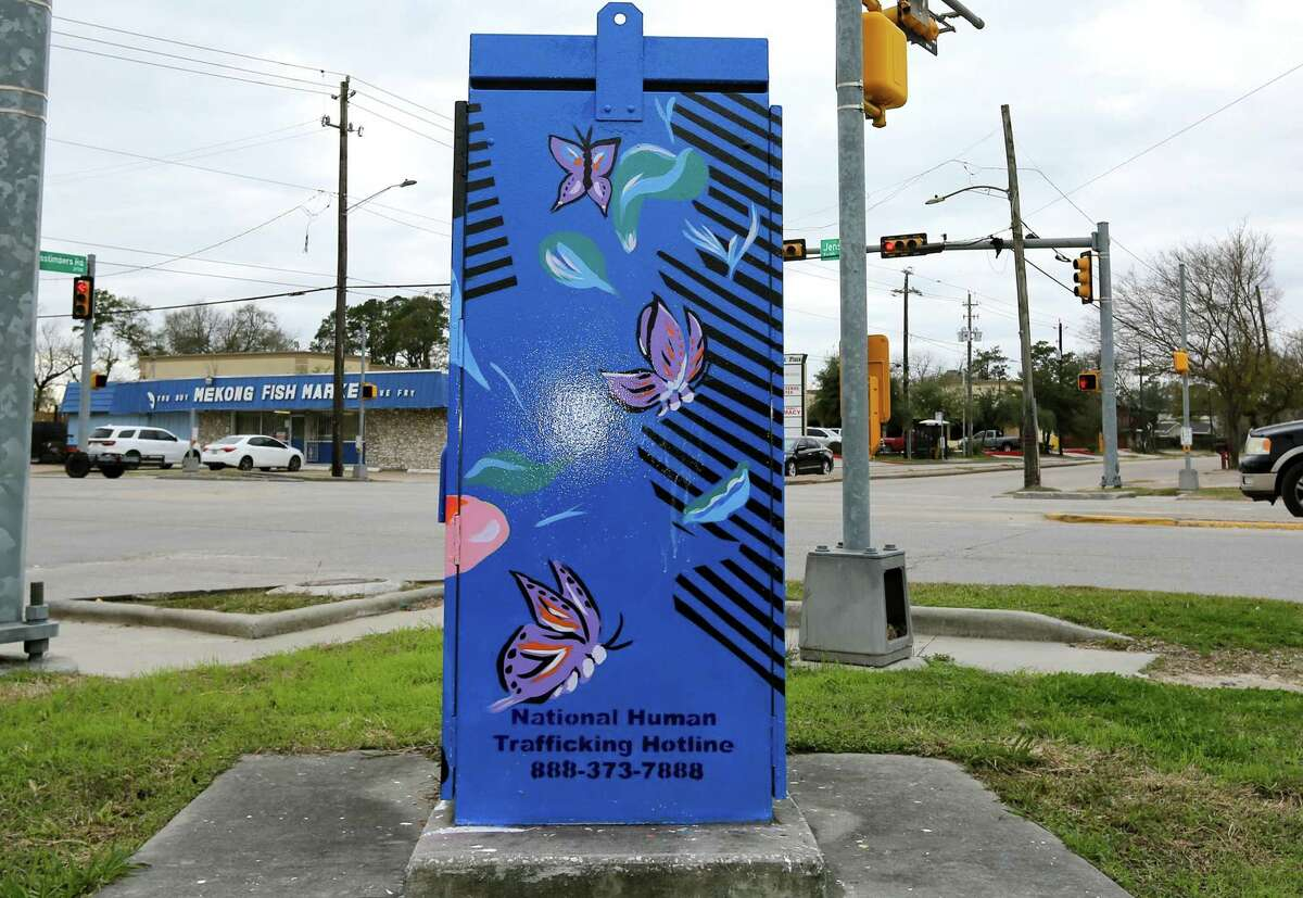 One of the four new Mini Murals initiated and funded by Houston Council Member Karla Cisneros on the corner of Jensen and Crosstimbers in Houston, Texas on Friday, January 8, 2021.