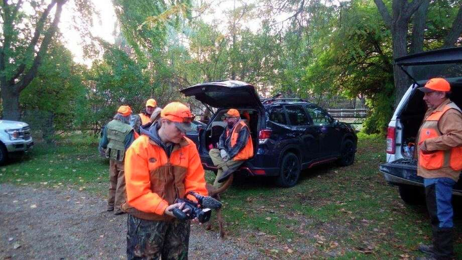Jenny Olsen of Michigan Out of Doors Television was on hand to film the October 2020 pheasant opener on the Lounsbury farm, using a compact and easy-to-carry camera. (Tom Lounsbury/Hearst Michigan)