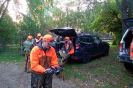 Jenny Olsen of Michigan Out of Doors Television was on hand to film theOctober 2020 pheasant opener on the Lounsbury farm, using a compact and easy-to-carry camera. (Tom Lounsbury/Hearst Michigan)