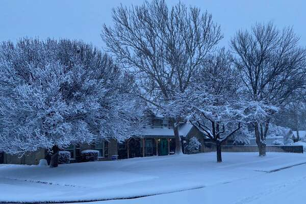 Views from West Texas on Sunday's snow day.