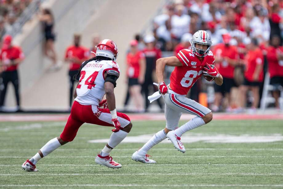 Ellijah Gardiner makes a catch against Miami (Ohio) in 2019. Photo: Icon Sportswire/Icon Sportswire Via Getty Images / ©Icon Sportswire (A Division of XML Team Solutions) All Rights Reserved