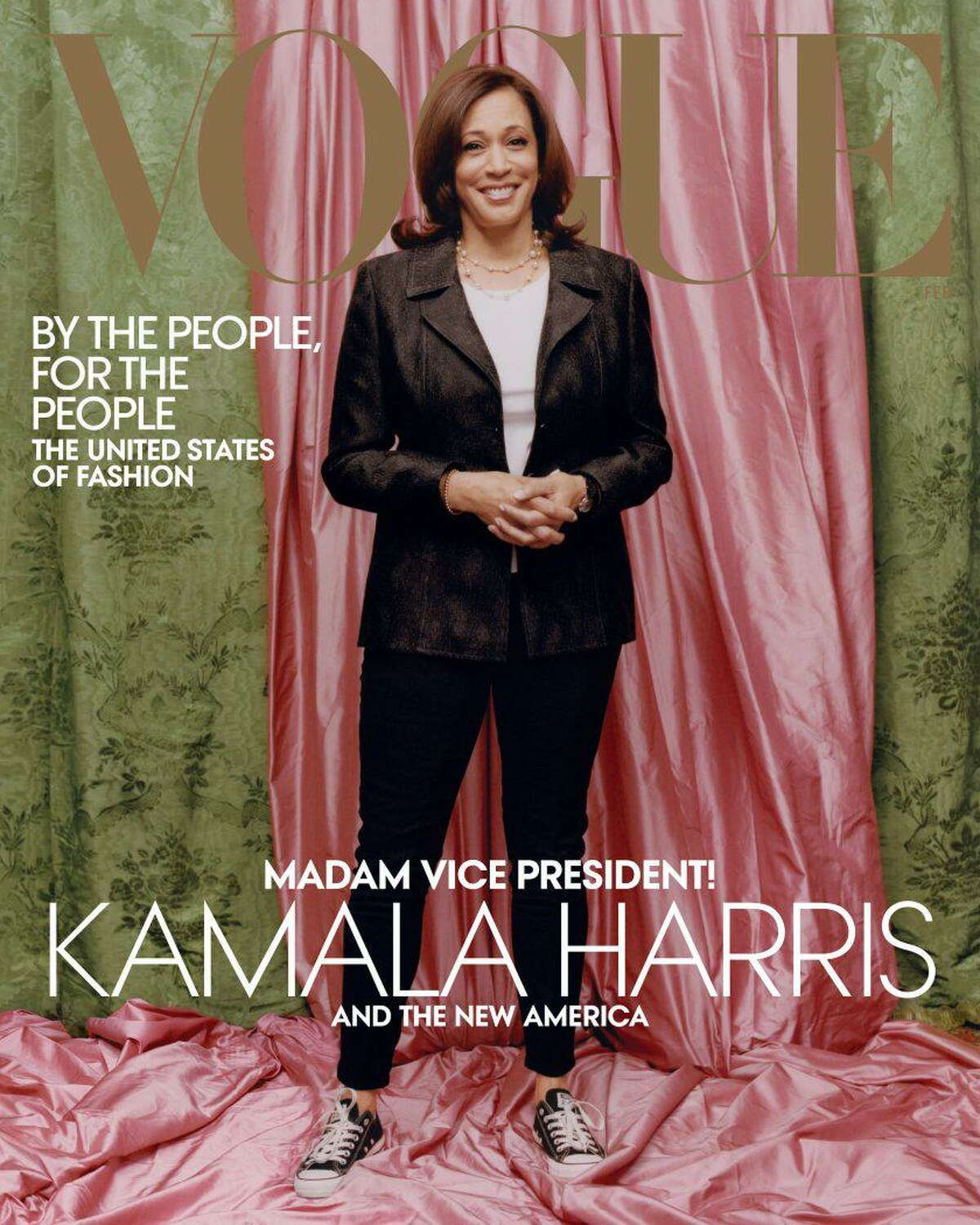 VOGUE KAMALA: Kamala Harris is featured on the cover of Vogue magazine. The cover has caused controversy because she's featured in a dark suite and Converse sneakers.