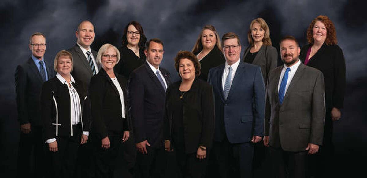 Top Row, left to right: Terry Daniels, Josh Schuette, Ashlea Doersam, Nicole Balcom, Pam Ramsey, Wendi Bolin Bottom Row, left to right: Amy Warren, Deneen Messer, Brian Ury, Norma Bellcoff, Darren Wright, Shannon Scheffel