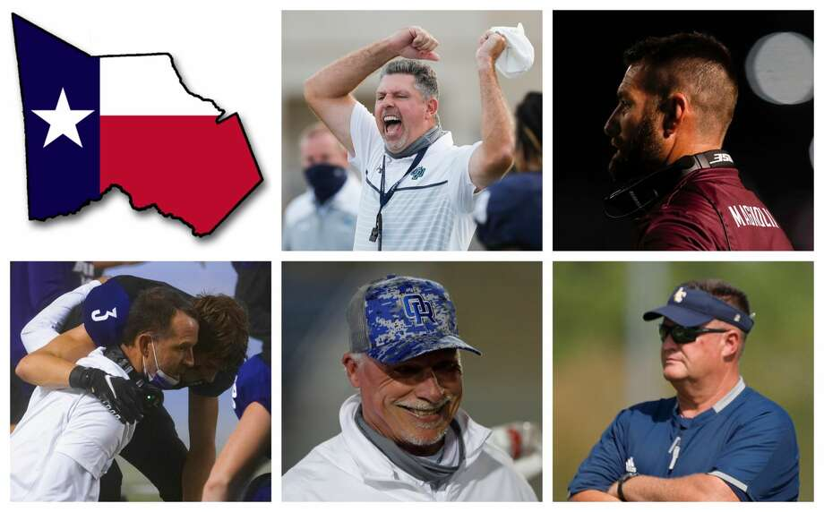 Lonnie Madison, Craig Martin, John Bolfing, Mark Schmid and Pat Kennedy are The Courier's nominees for Coach of the Year. Photo: Staff File Photos