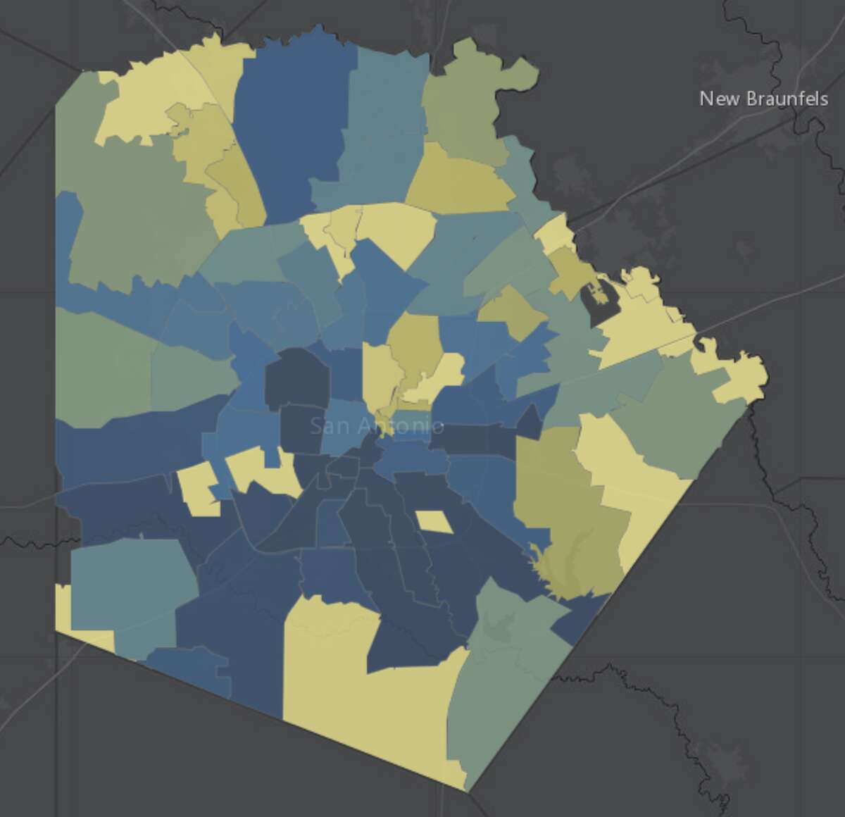 The city's COVID-19 surveillance dashboard tracks the number of cases in each zip code.