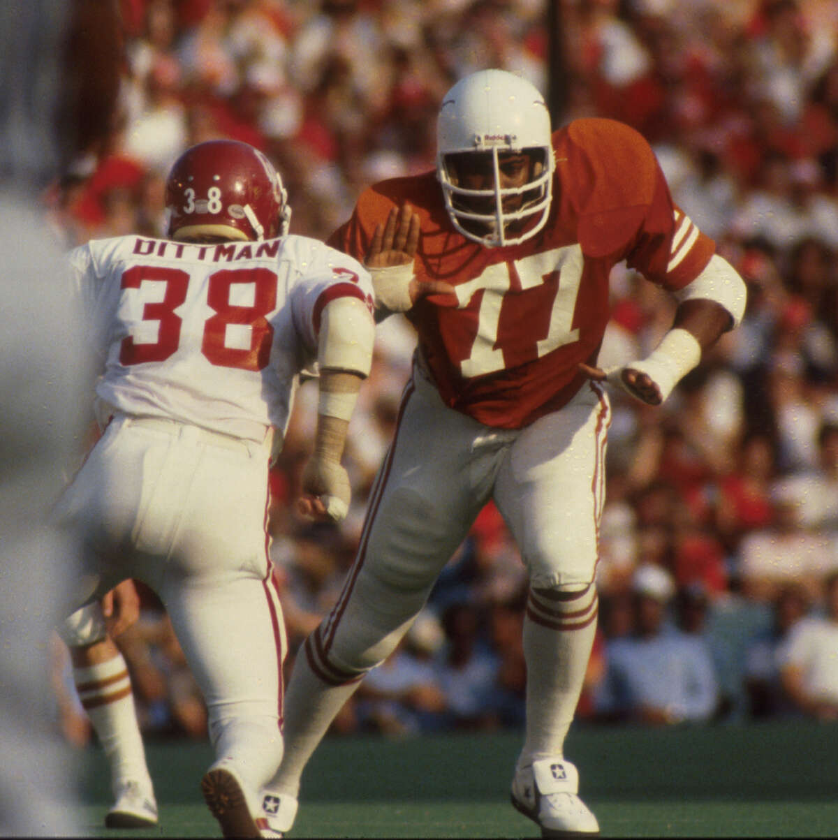 Kenneth Sims, former University of Texas defensive lineman, was named to the College Football Hall of Fame Class of 2021