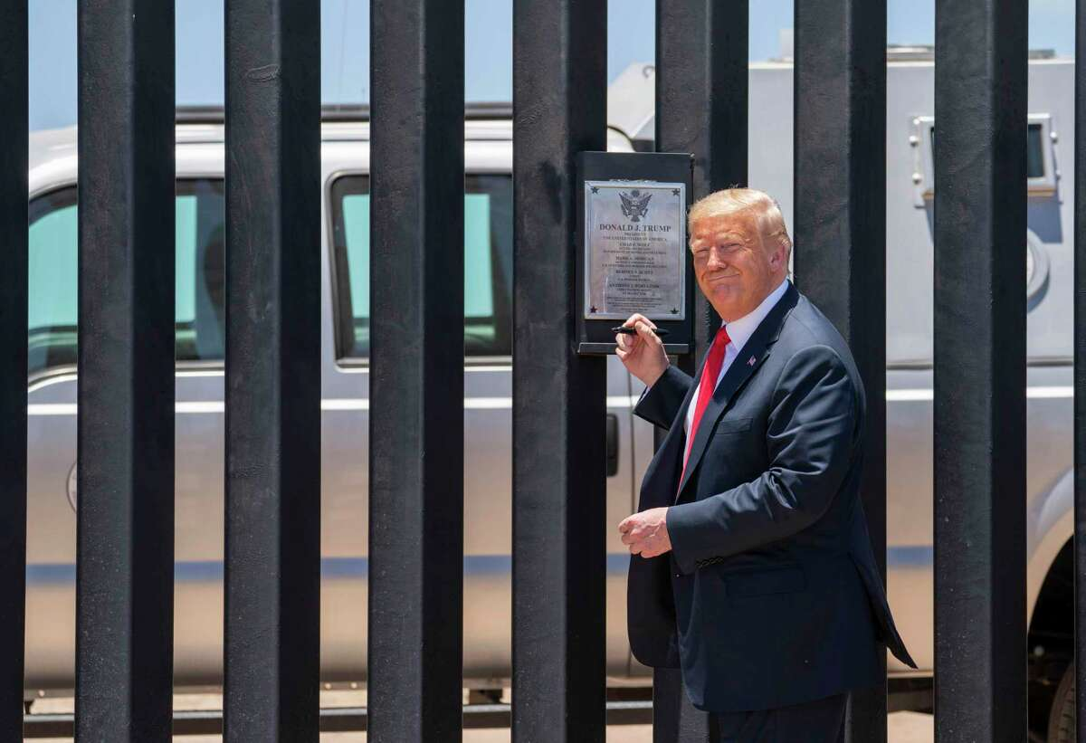 President Donald Trump is planning a trip to Alamo, Texas on Tuesday to highlight his administration's work on the border wall.