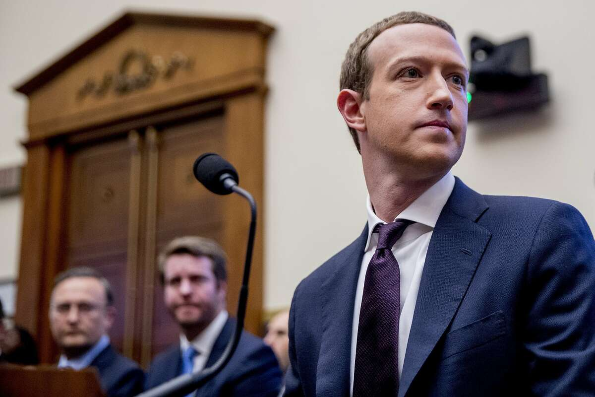 Facebook CEO Mark Zuckerberg testifies on Capitol Hill in 2019. Facebook is pausing all political donations following the siege of the Capitol.