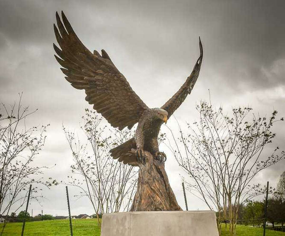 The Eagle Plaza Project is one of four commemoration projects approved in 2009 by the Sugar Land City Council.
