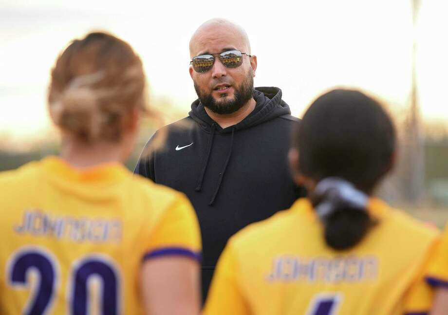 LBJ head girls' soccer coach Mario Gonzalez captured his 300th career win as the Lady Wolves defeated St. Augustine on Saturday. Photo: Danny Zaragoza /Laredo Morning Times File