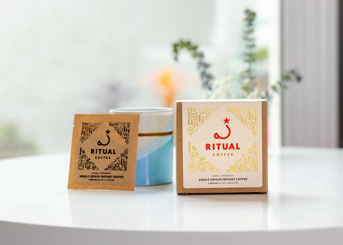 Instant coffee from Ritual Coffee Roasters, one of several Bay Area specialty coffee roasters that recently began offering convenient single-serve options.