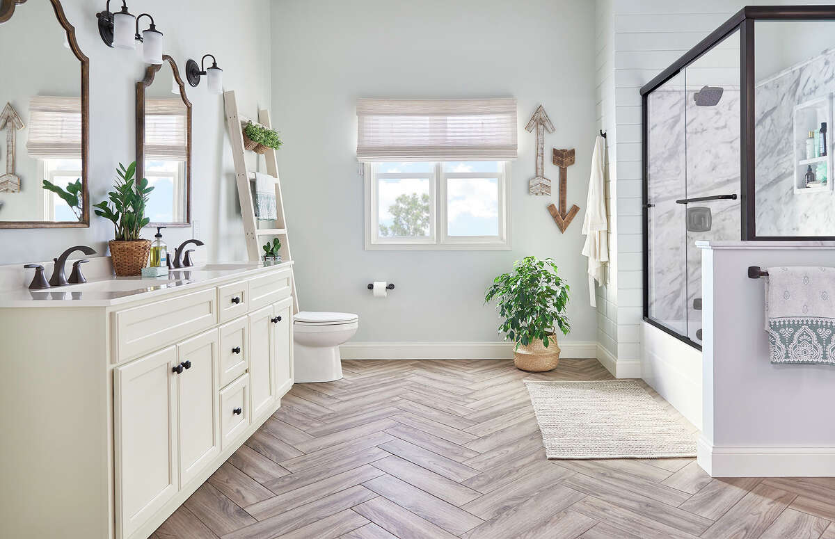 A middle-aged style complete bathroom remodel by Re-Bath.