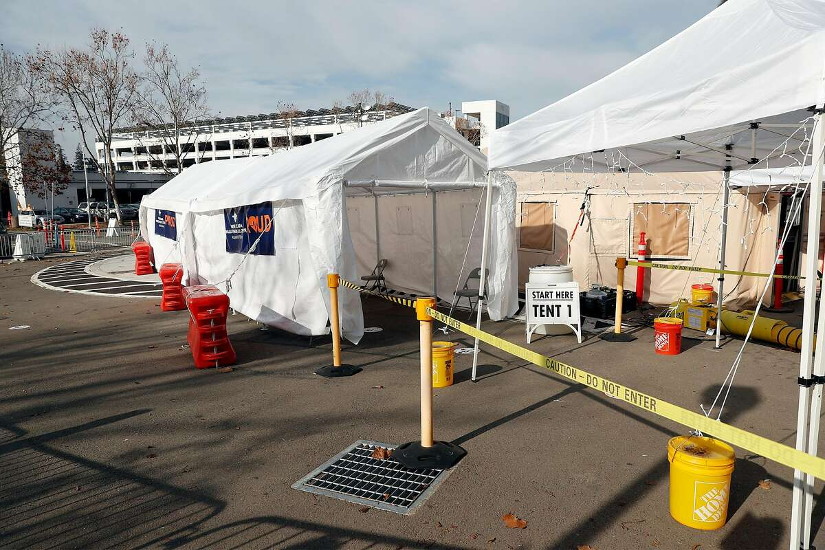 Santa Clara Valley Medical Center Emergency Department triage area in San Jose, Calif., on Thursday, January 7, 2021.
