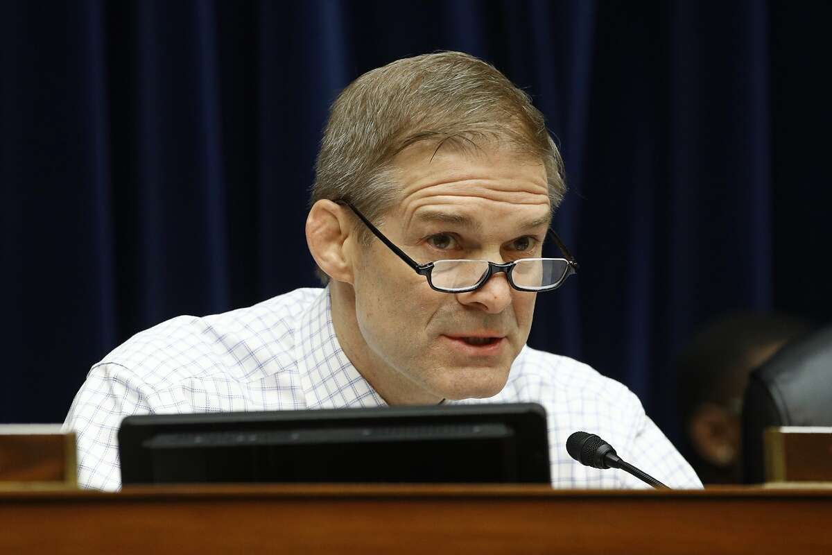 Rep. Jim Jordan, R-Ohio, speaks during a House Oversight Committee hearing on preparedness for and response to the coronavirus outbreak on Capitol Hill in Washington, March 11, 2020.