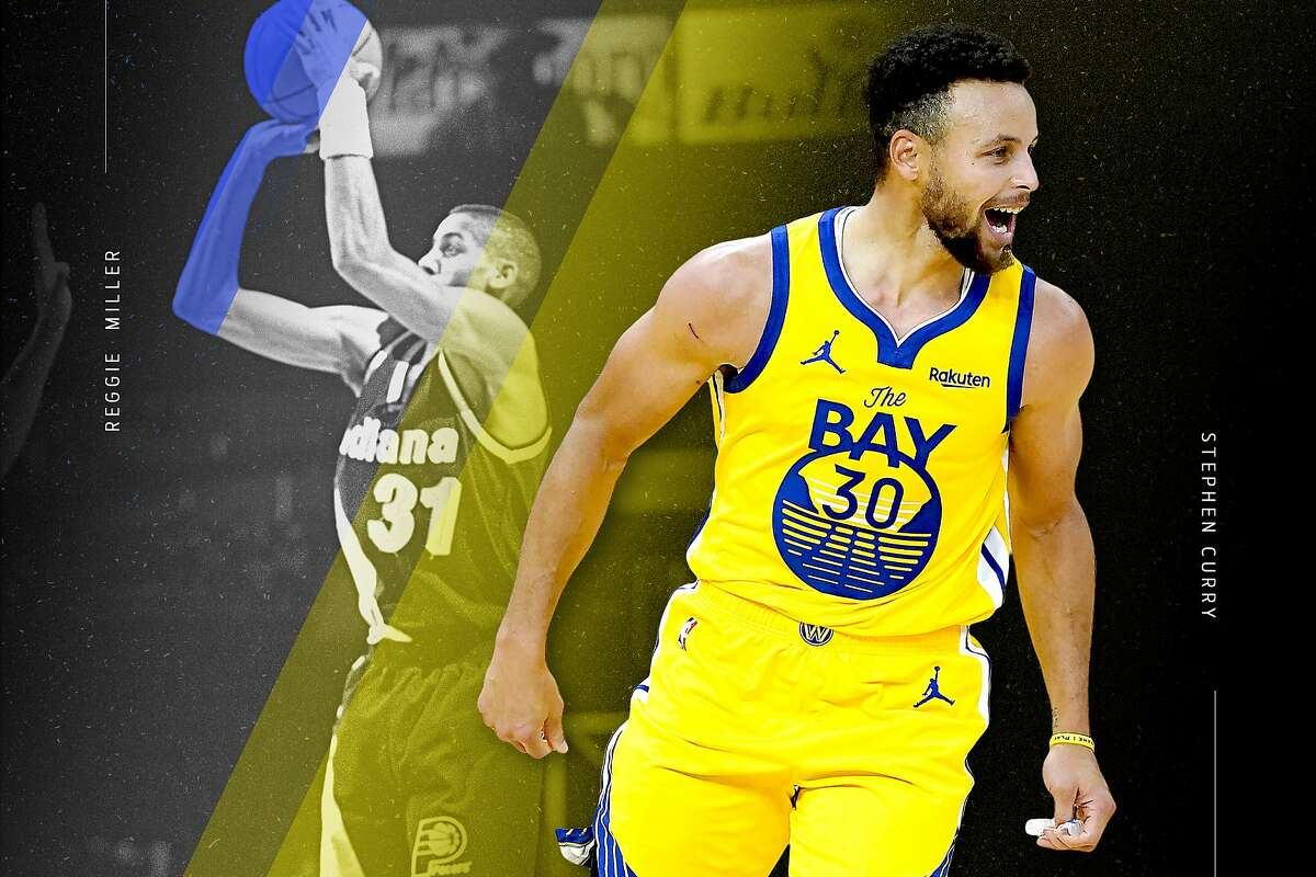 Stephen Curry will soon pass Reggie Miller for second on the all-time 3-pointers made list.