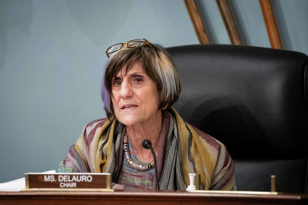 FILE - In this Thursday, Jan. 4, 2020, file photo, Rep. Rosa DeLauro, D-Conn., speaks during a hearing on Capitol Hill in Washington. (Al Drago/Pool via AP, File)