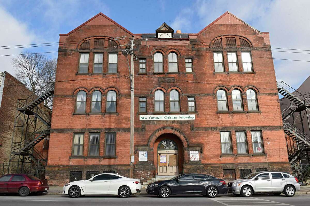 Building at 165 Clinton Ave. on Thursday, Jan. 7, 2021 in Albany, N.Y. (Lori Van Buren/Times Union)