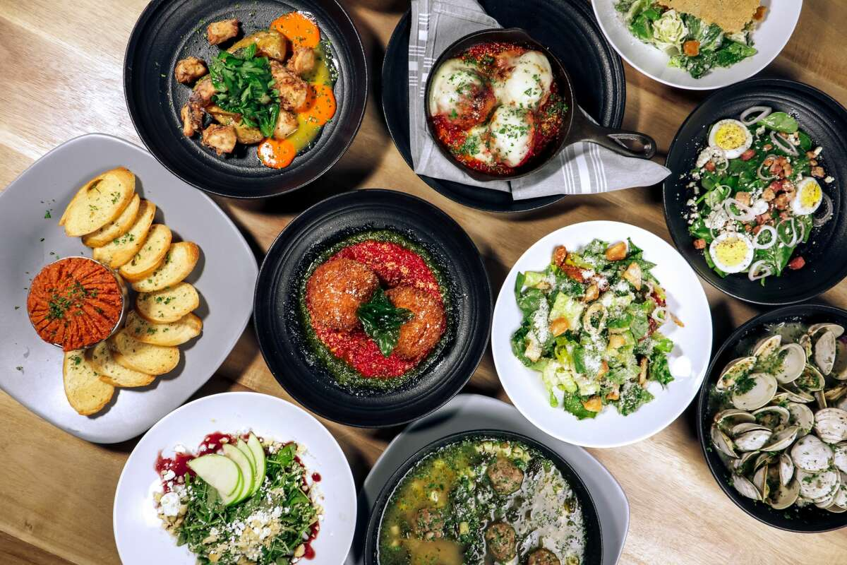 A variety of small plates are shown at Bocca Italian Kitchen, a new concept of Chef Justin Turner of Gastropub Productions in Redemption Square.