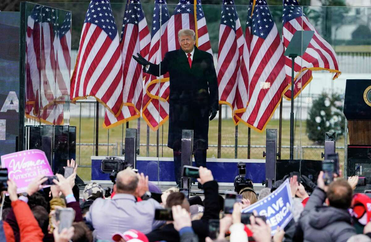 In this Jan. 6, 2021, photo, President Donald Trump arrives to speak at a rally in Washington. Trump has never been one to acknowledge he's lost. By his own words, he hates losing. The storming of the Capitol by his partisans this week was the culmination of months of denials that he was beaten in the election - and his lifetime aversion to acknowledging defeat. (AP Photo/Jacquelyn Martin)
