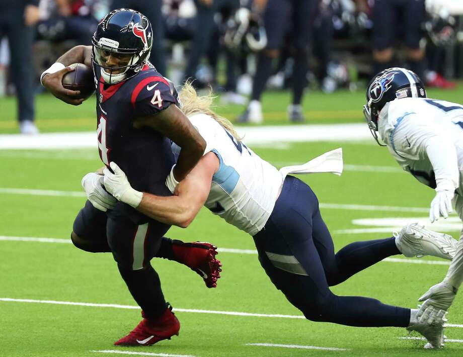 Deshaun Watson completed 70.2% of his attempts for 4,823 yards, 33 touchdowns and seven interceptions this season while rushing for another 444 yards and three scores. Photo: Brett Coomer /Houston Chronicle / © 2021 Houston Chronicle