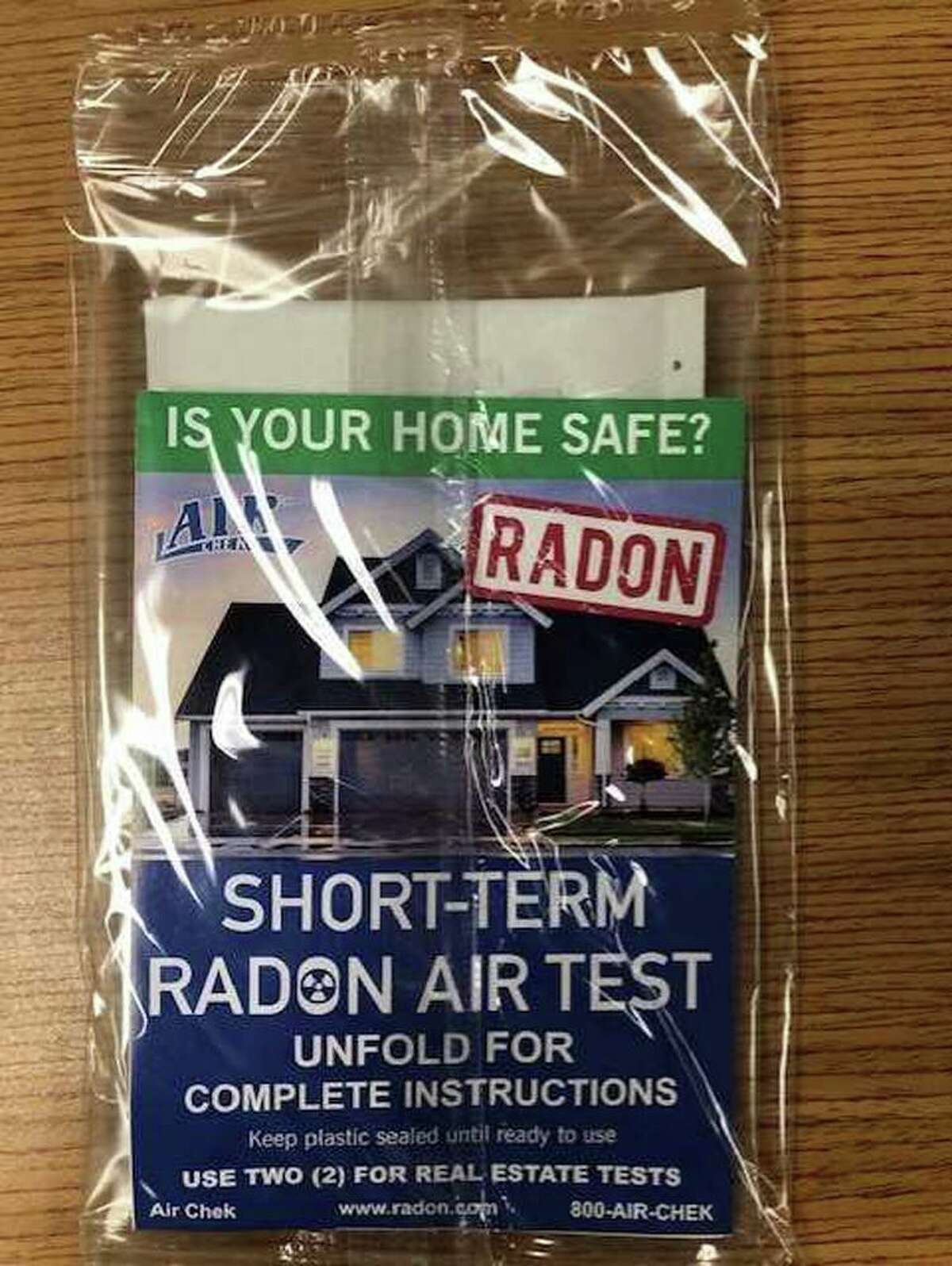 Here is a radon test kit to test for the gas in the home. The Darien Health Department is advising resident of the town to test their homes for the gas, especially now that many families are spending more time at home due to the disease, COVID-19.