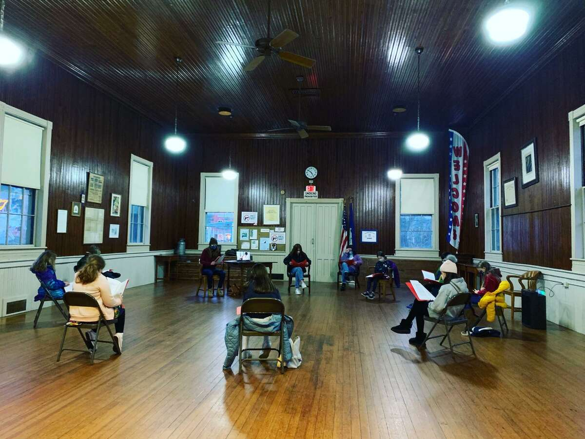 The show must go on: Wilton Children's Theater has found creative ways to perform and work together throughout the pandemic. The peformers rehearsed at the Cannon Grange.