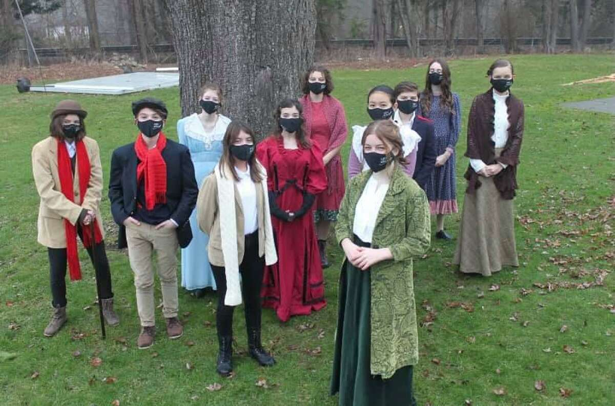 The show must go on: Wilton Children's Theater has found creative ways to perform and work together throughout the pandemic. The cast of Little Women, offered virtually in December.