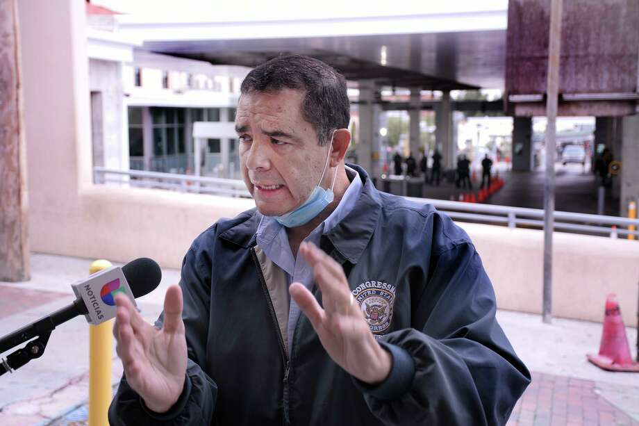 """Rep. Henry Cuellar on Monday criticized President Donald Trump's planned Tuesday visit to South Texas saying """"he is not welcome here."""" Trump is visiting the border wall, and Cuellar said his priorities are in the wrong place and that """"South Texas deserves better. America deserves better."""" Photo: Cuate Santos / Laredo Morning Times / Laredo Morning Times"""