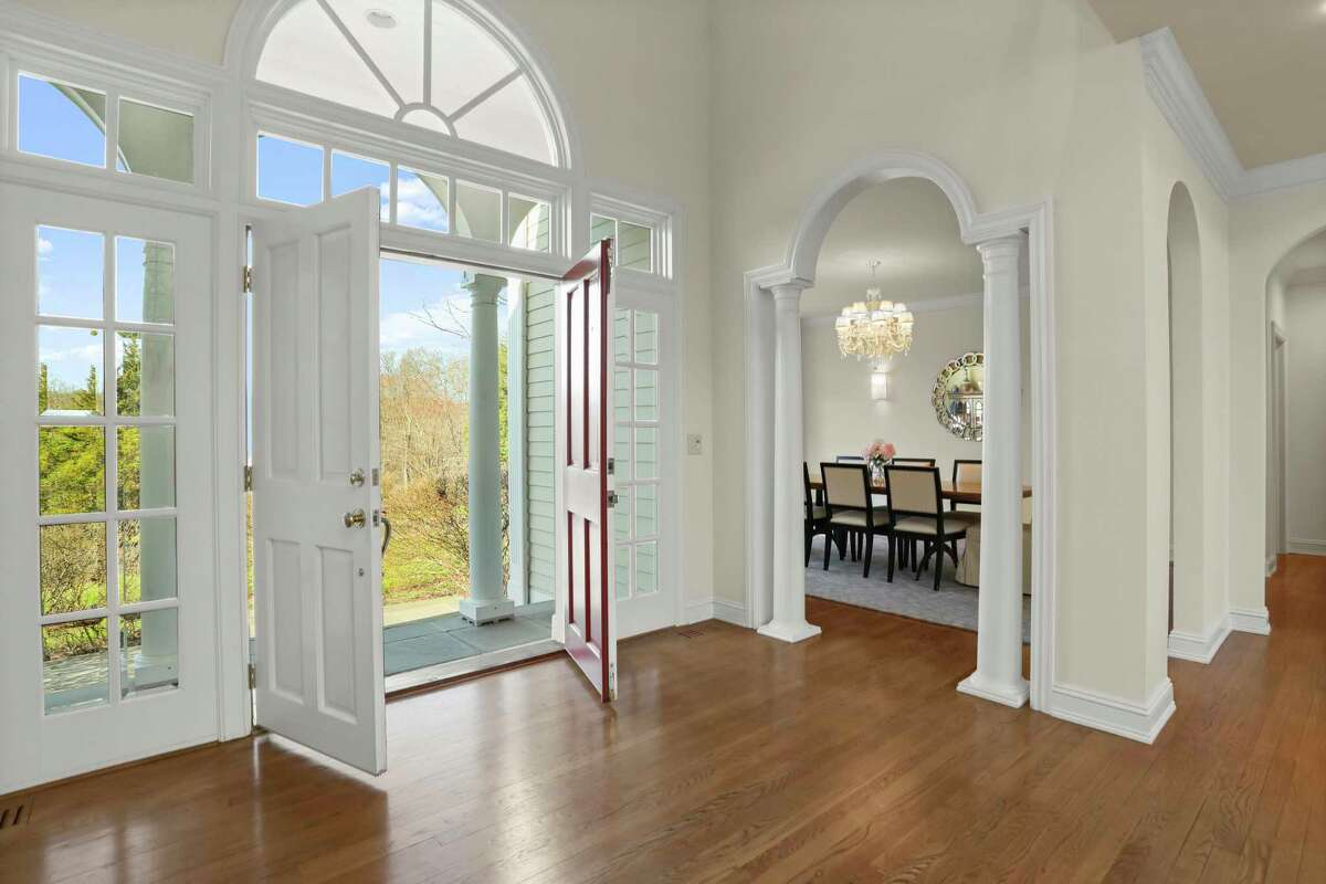 French doors at the front entrance at 20 Tuckahoe Road, Easton.