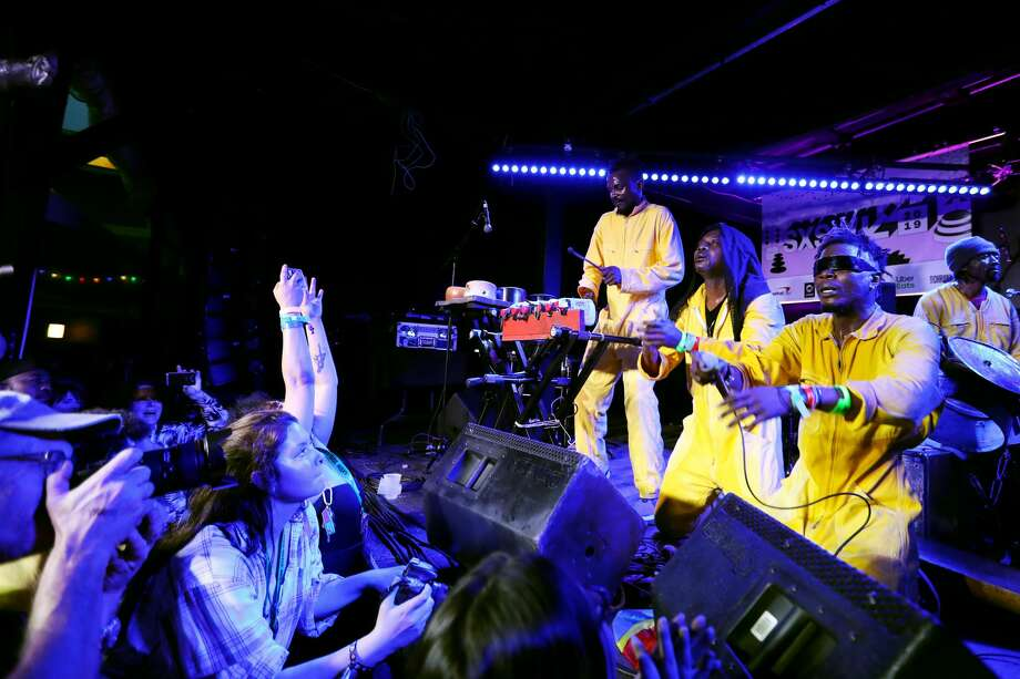 KOKOKO! performs onstage at Music Opening Party during the 2019 SXSW Conference and Festivals at The Main on March 12, 2019 in Austin, Texas. Photo: Hutton Supancic/Getty Images For SXSW / 2019 Hutton Supancic