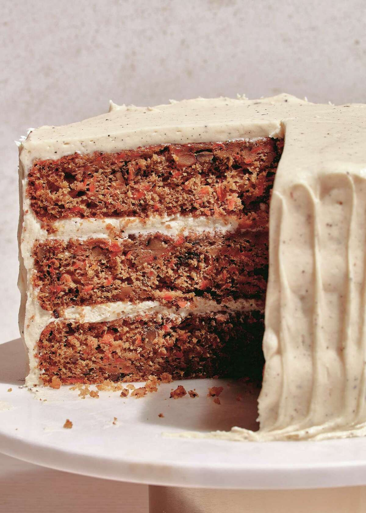 """Carrot and Pecan Cake with Classic Cream Cheese Frosting from """"Dessert Person"""" by Claire Saffitz."""