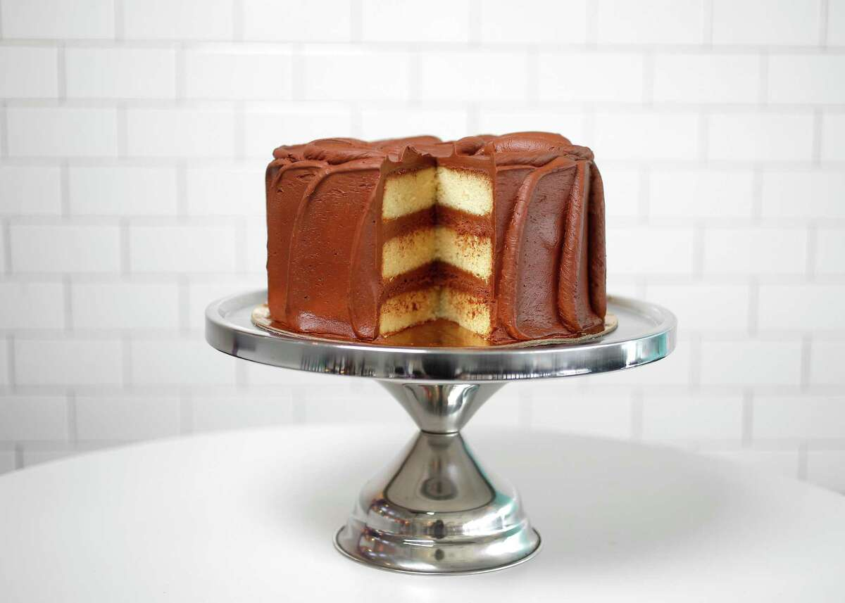 Diner Cake, a yellow cake with chocolate frosting, is the best-selling cake at Dessert Gallery.